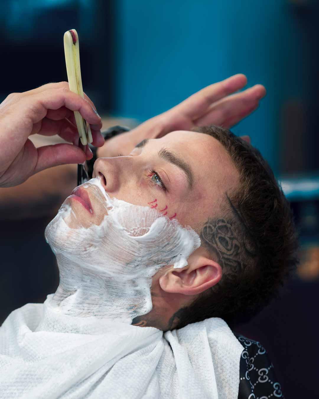 Traditional Cut Throat Shave At Morisset Barbershop