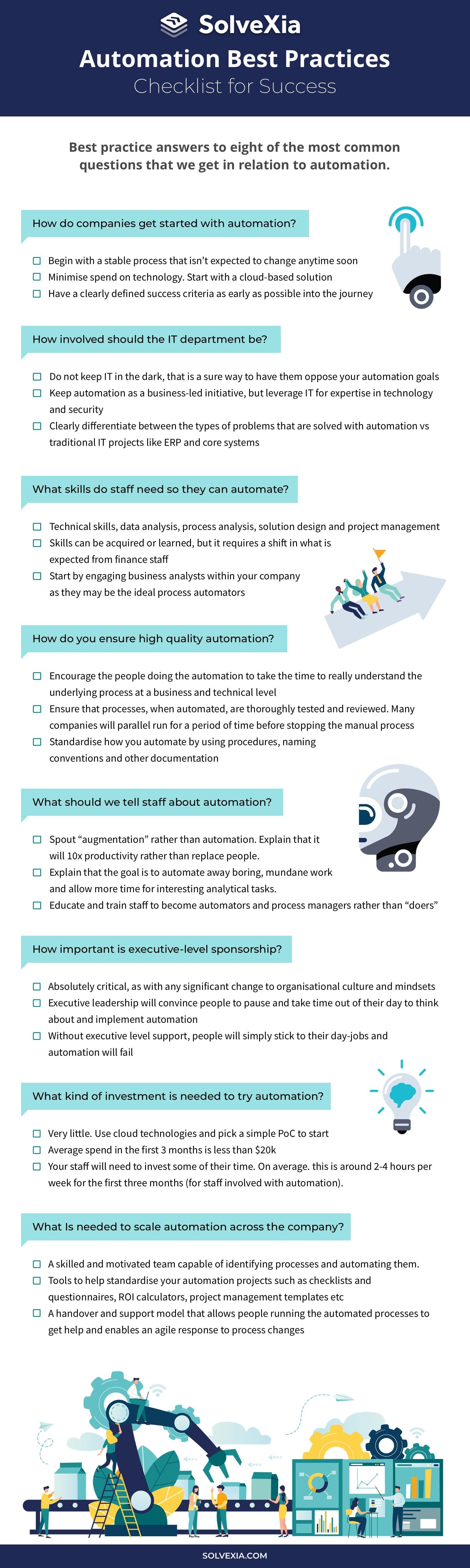 Automation best practices checklist