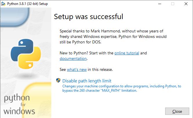 python para windows
