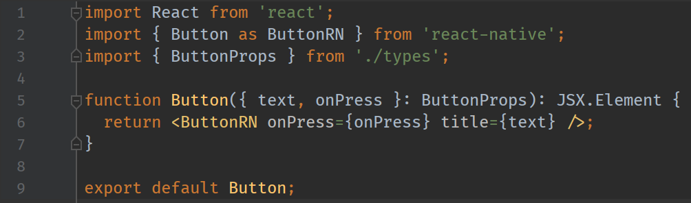 button react