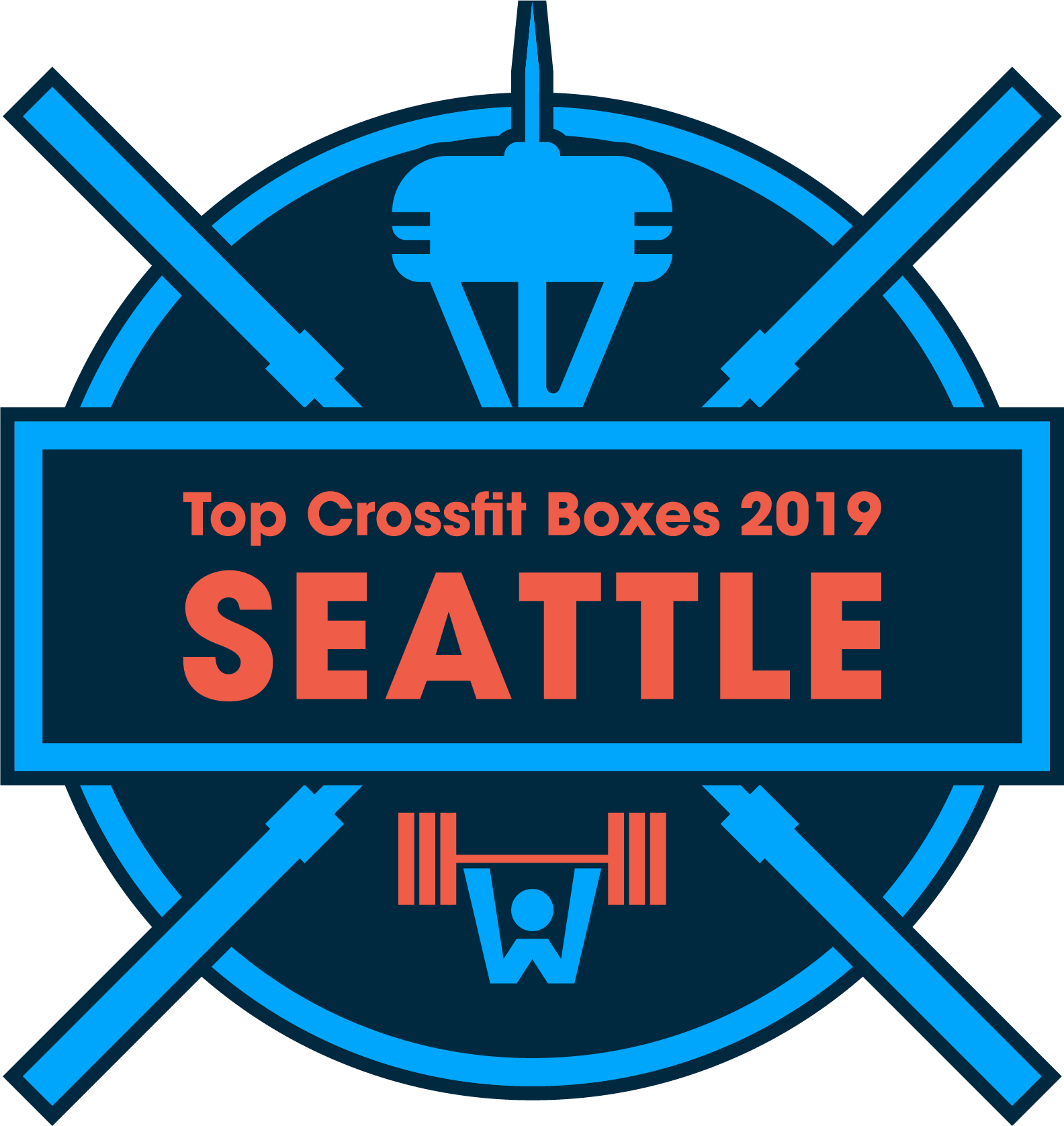 best CrossFit boxes in Seattle badge