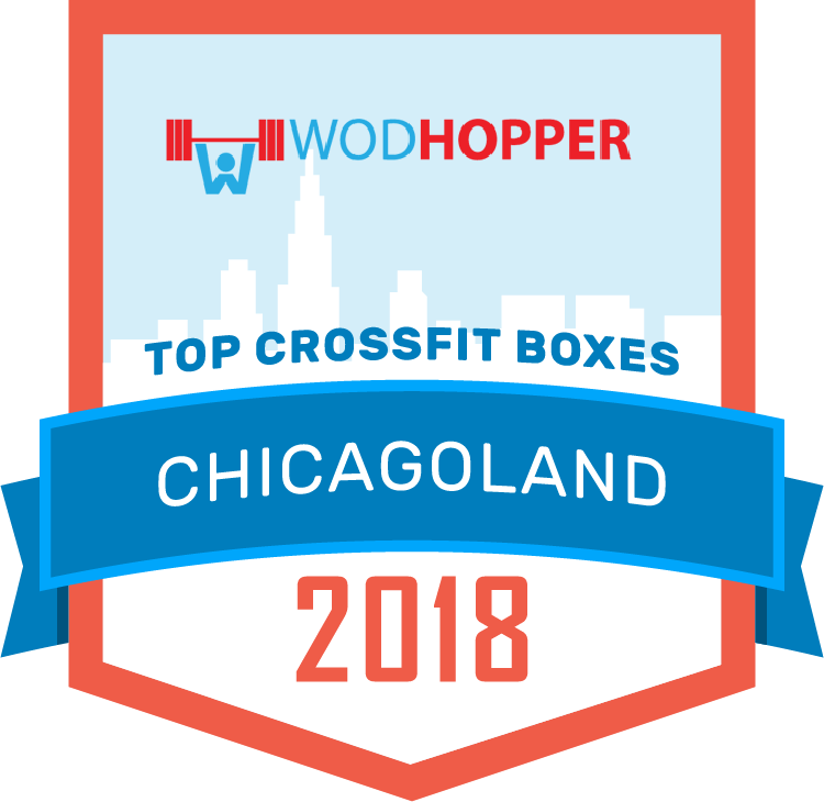 WODHOPPER Best CrossFit Boxes Chicago 2018 Badge