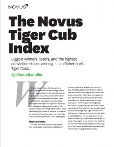 the novus tiger cub index