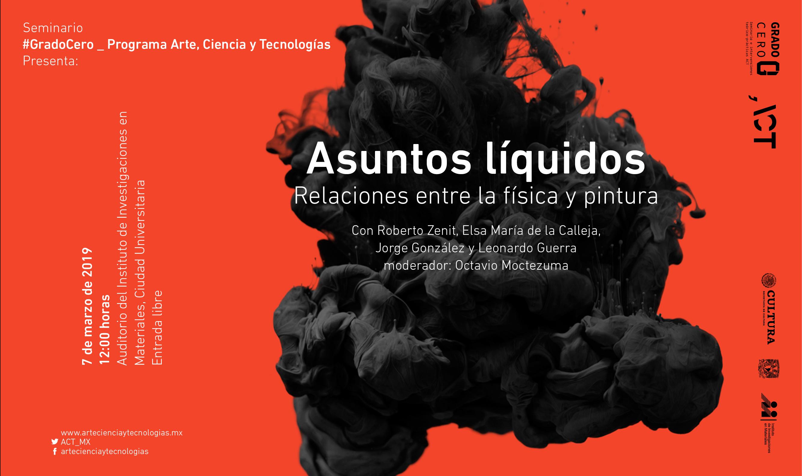 Grado Cero: Asuntos líquidos: relaciones entre la física y la pintura