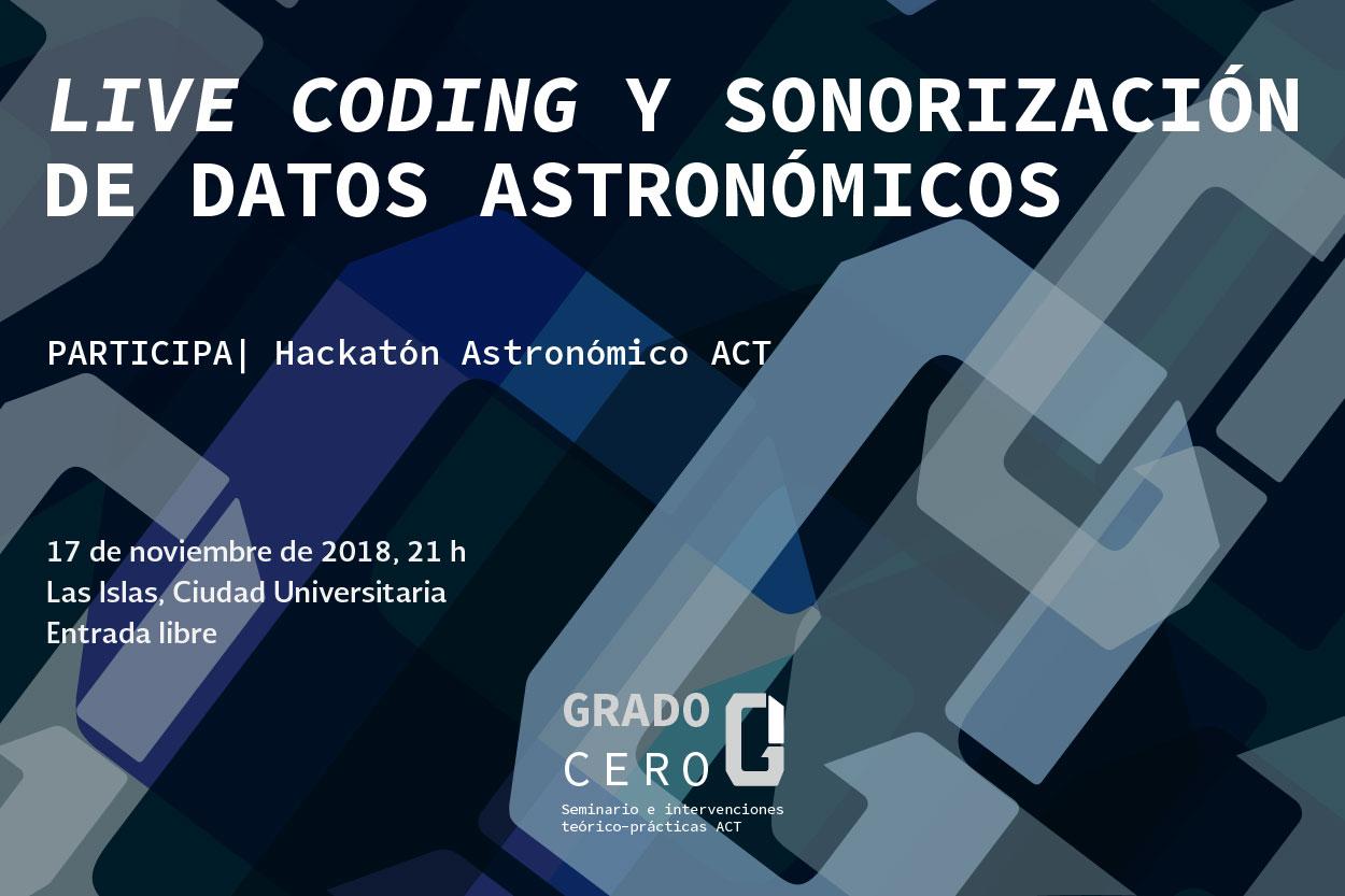 Live coding y sonorización de datos astronómicos