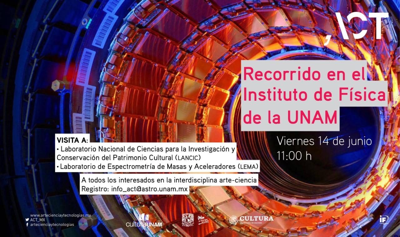 Recorrido ACT en el Instituto de Física de la UNAM