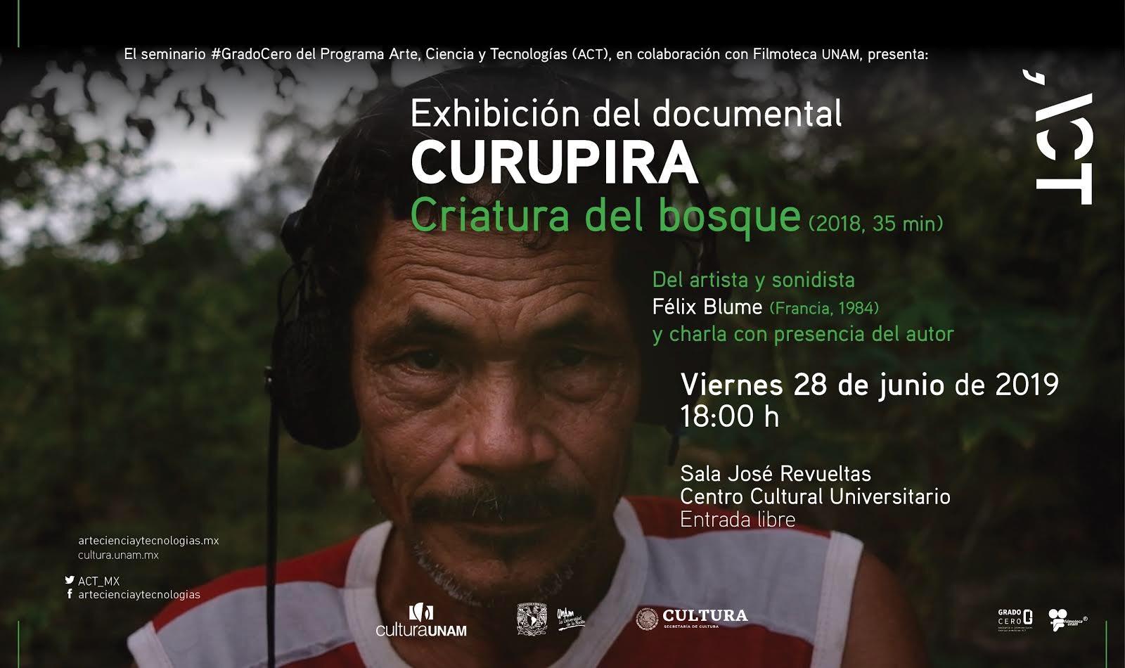 Grado Cero: Exhibición del documental Curupira, criatura del bosque y charla con el autor, Félix Blume