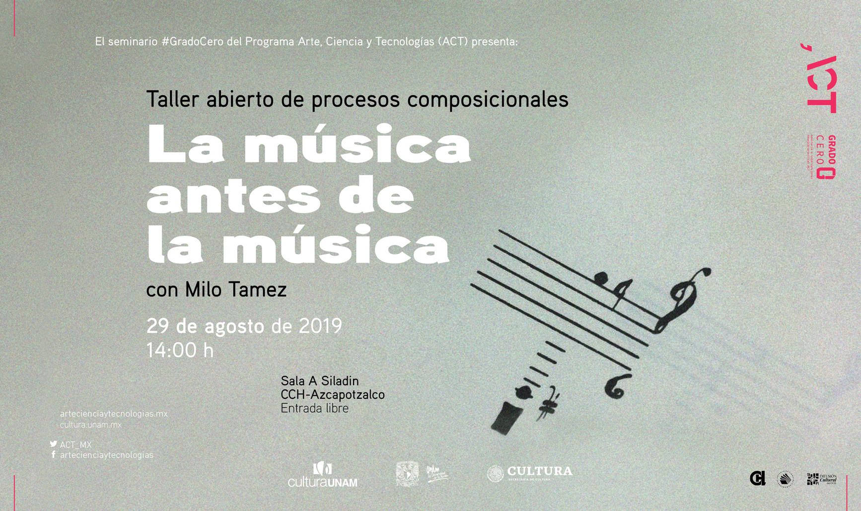 Grado Cero: Taller abierto de procesos composicionales La música antes de la música