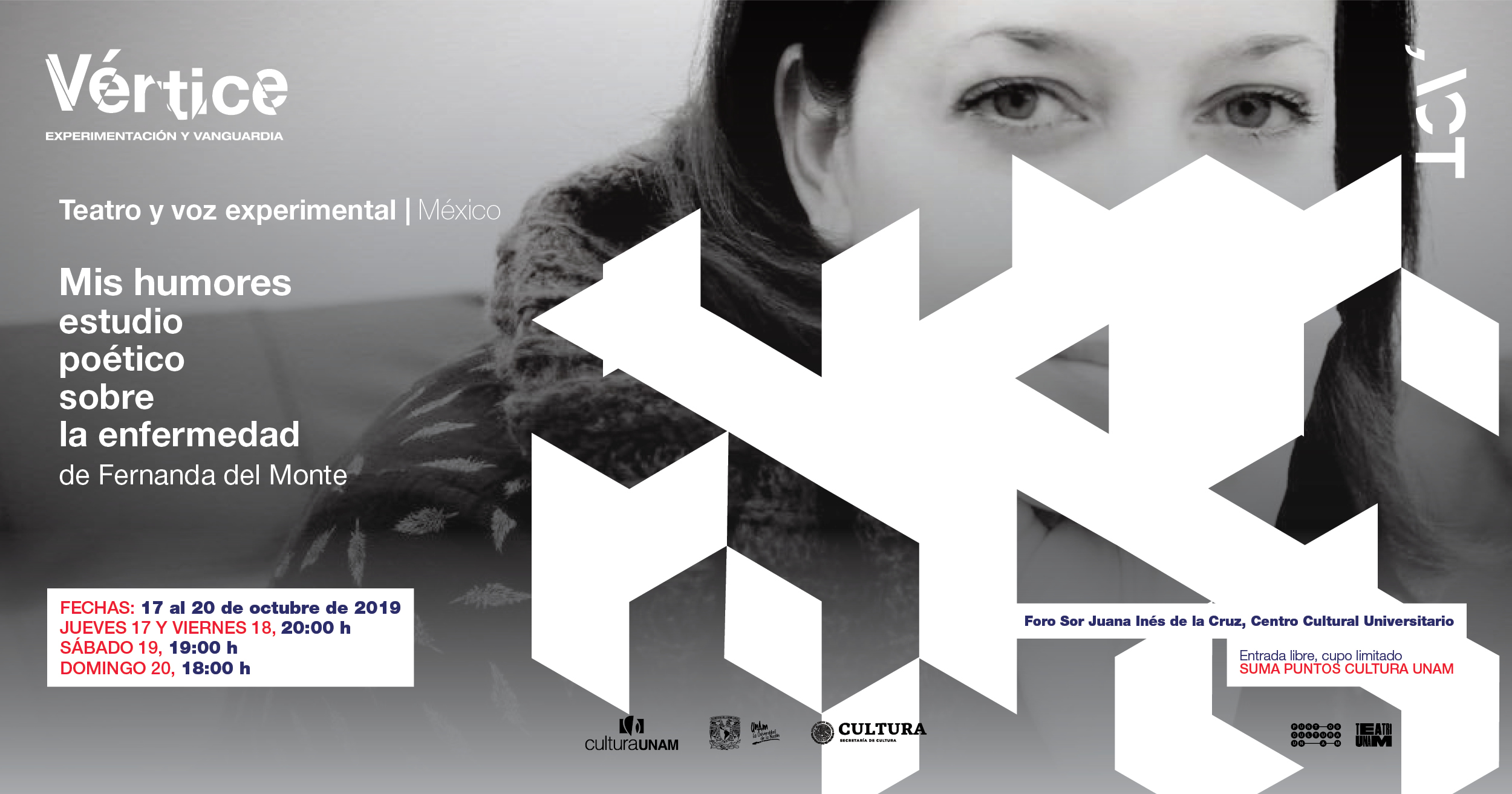 Mis humores, estudio poético sobre la enfermedad en el festival Vértice. Experimentación y Vanguardia 2019