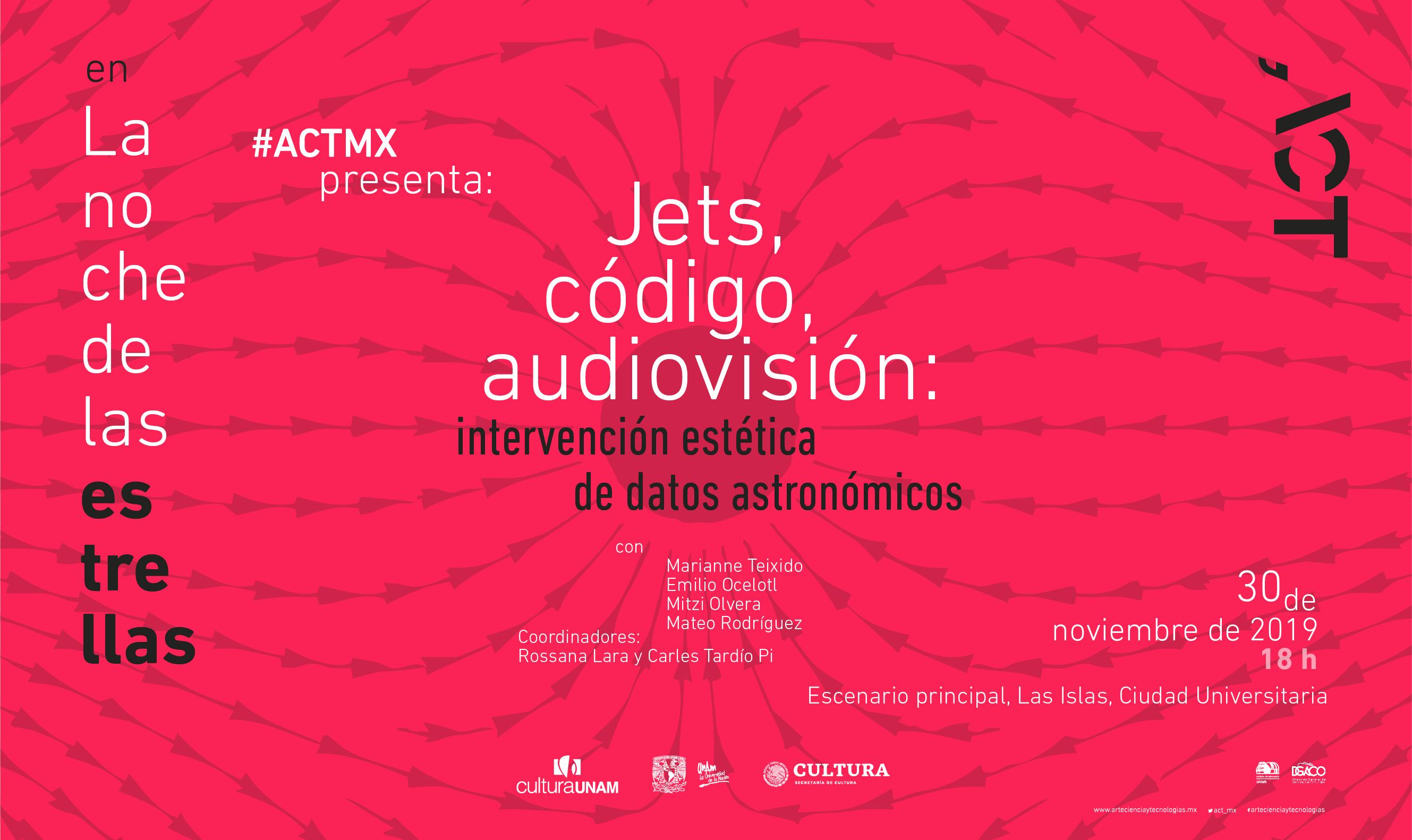 Jets, código, audiovisión: intervención estética de datos astronómicos