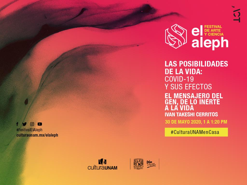 Festival El Aleph: El mensajero del gen, de lo inerte a la vida
