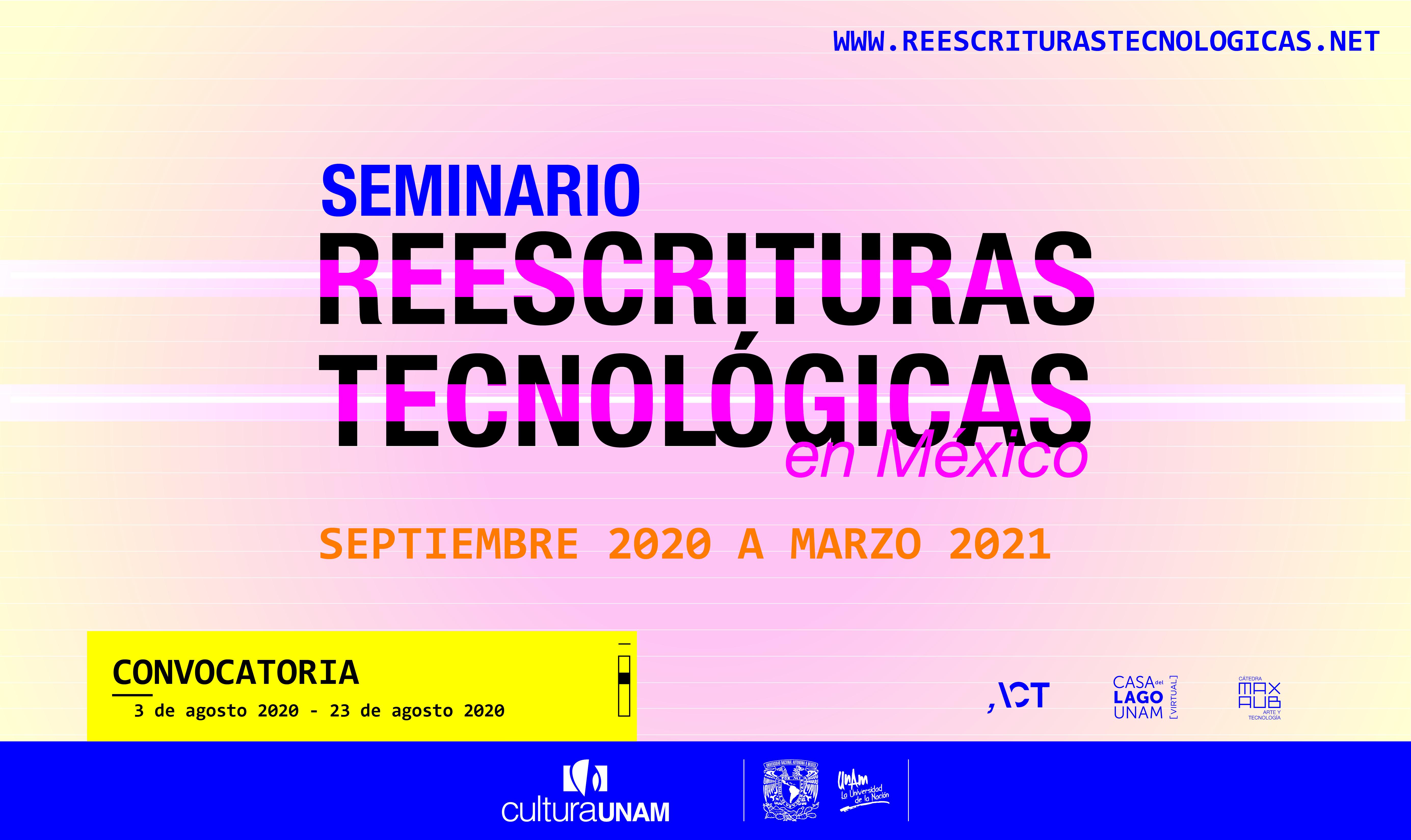 Convocatoria: Seminario Reescrituras tecnológicas en México