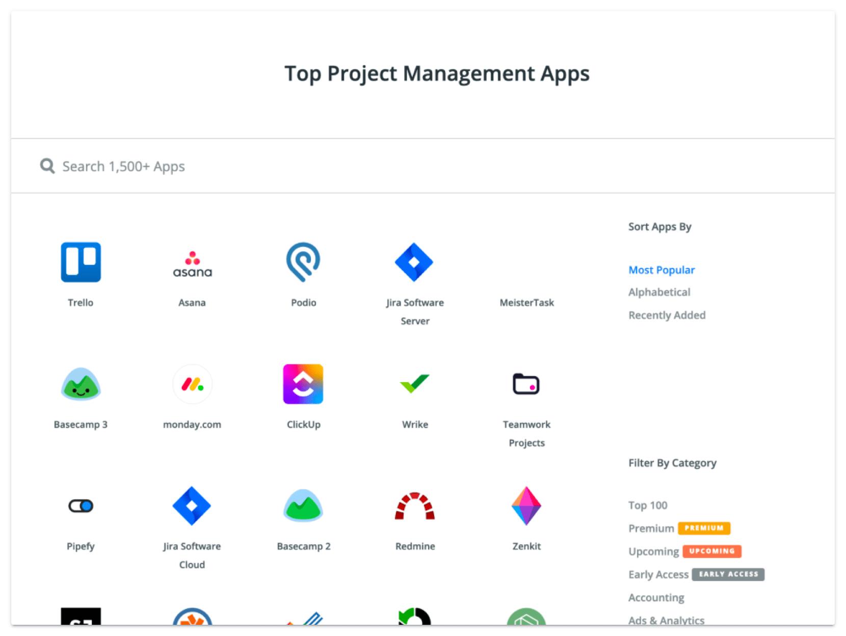 Zapier Project Management Apps