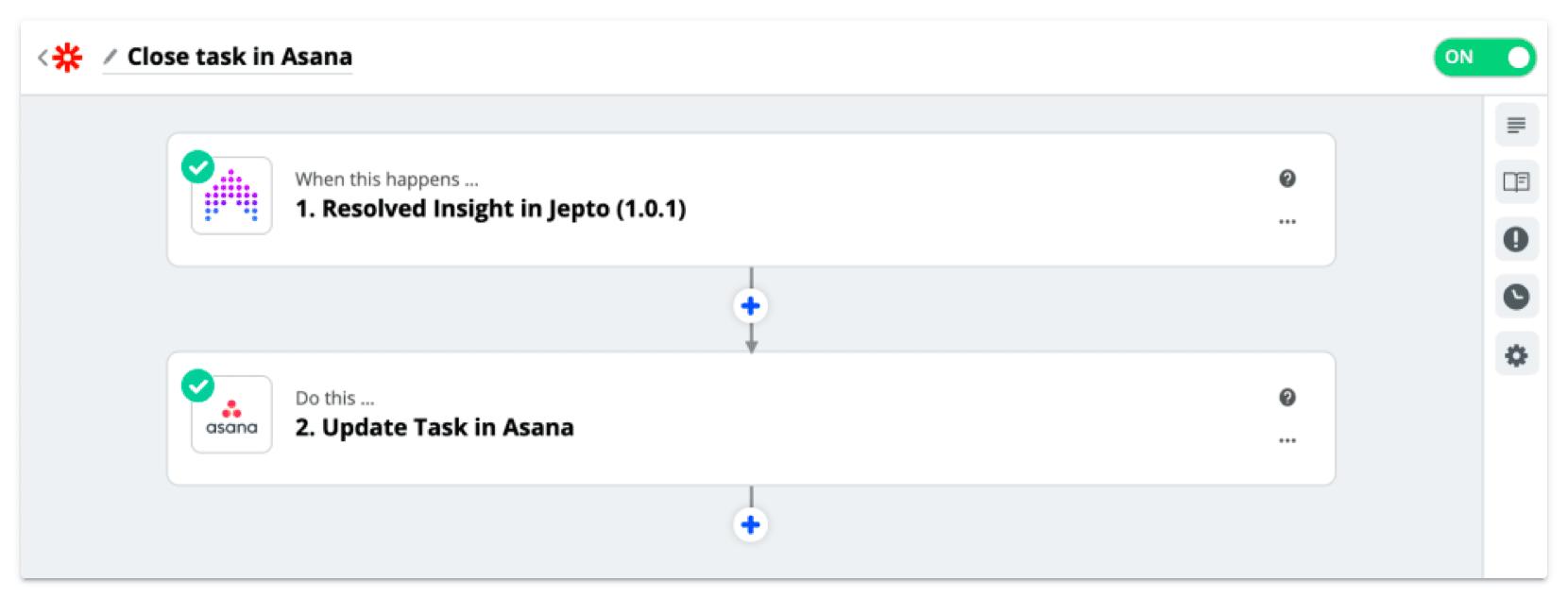 Resolved Anomaly closes Asana task