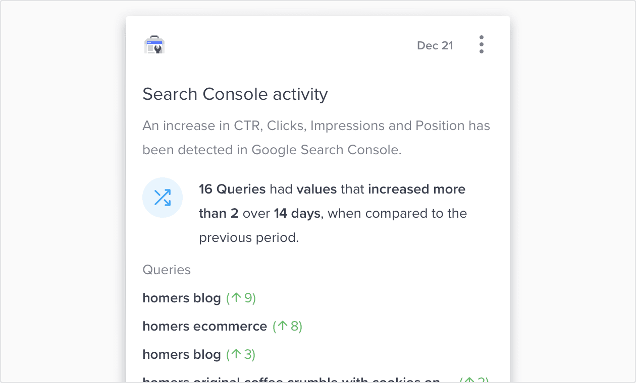 Search Console Activity