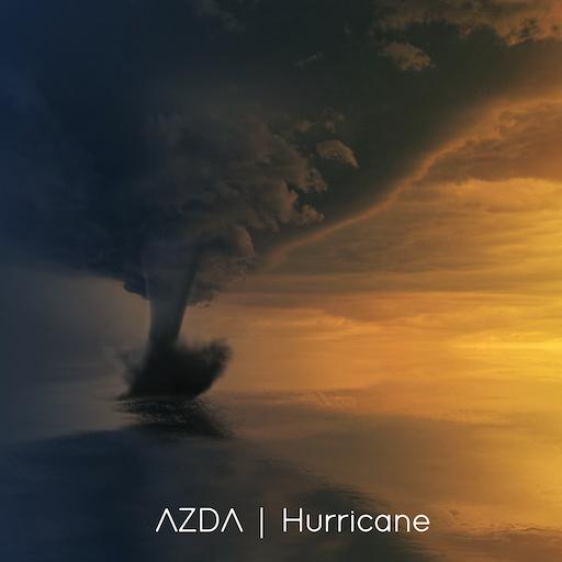 Hurricane Cover, Devastating Hurricane over the ocean.