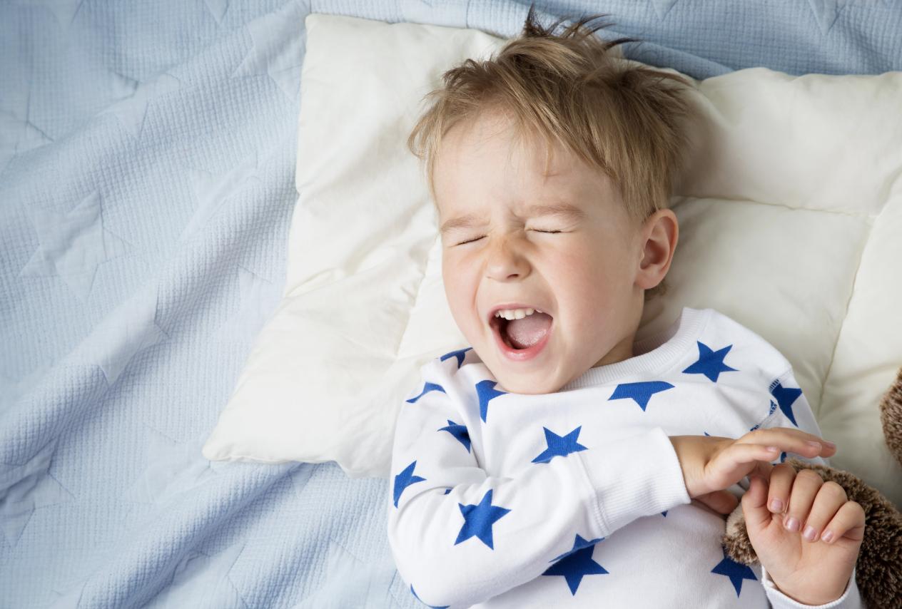 little boy going to sleep