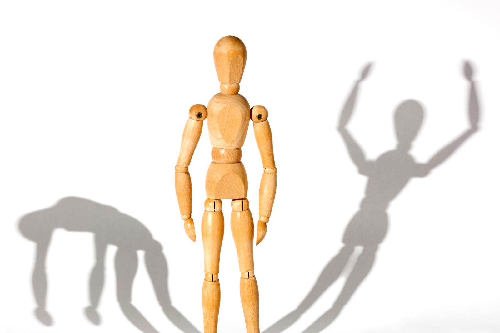 model figurine symbolizing symptoms of bipolar disorder