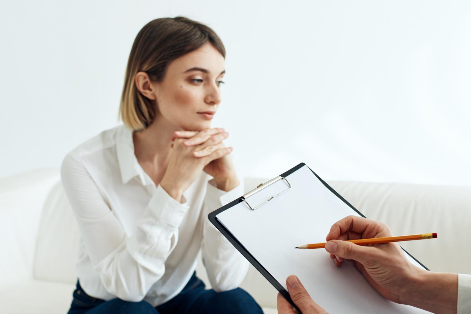 Woman Visiting Therapist