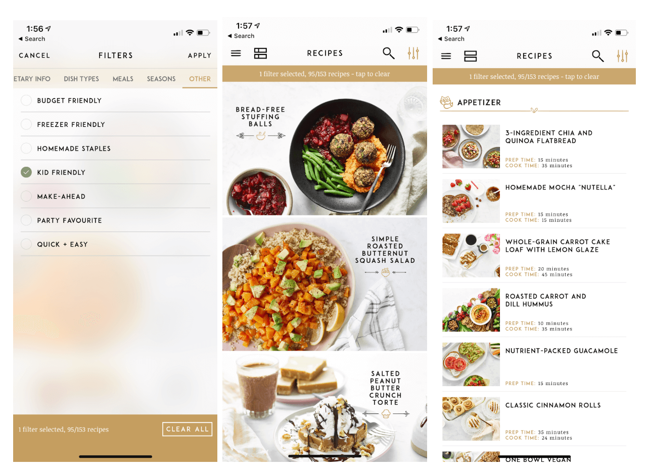 Kids Can Cook, mobile app