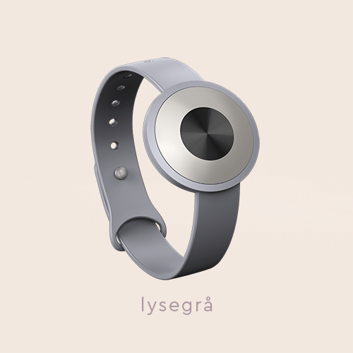 "The .TIBA Aware-able Limited Edition, shown in the light-grey color option, on a beige background with the text ""lysegrå"" on"