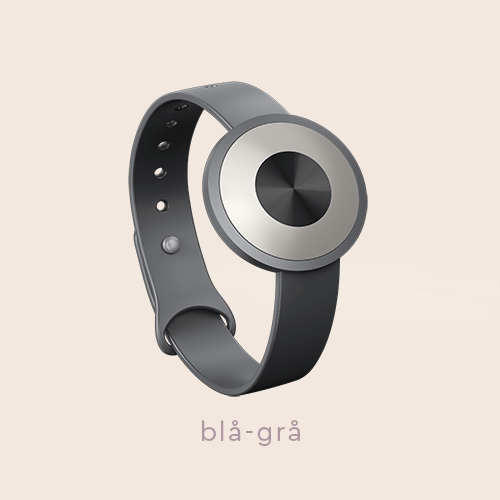 "The .TIBA Aware-able Limited Edition, shown in the blue-grey color option, on a beige background with the text ""blå-grå"" on"