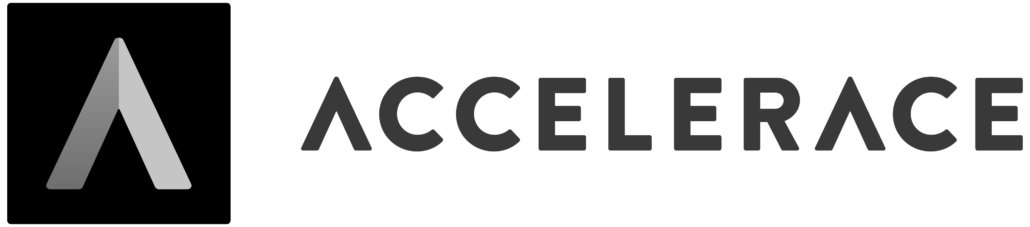 the Accelerace Brand mark - .TIBA has been incubated with Accelerace in 2018