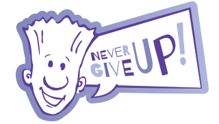 Never Give Up logo
