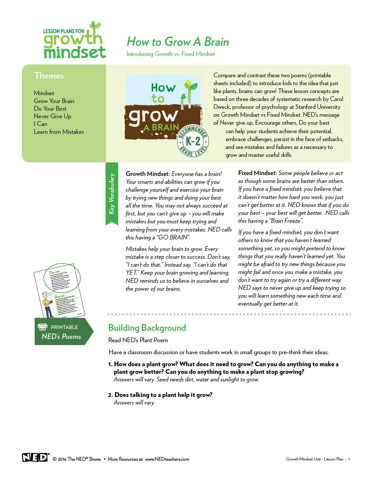 Intro to Growth Mindset K-2