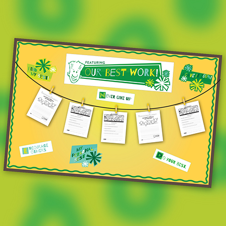 Our Best Work Bulletin Board Kit