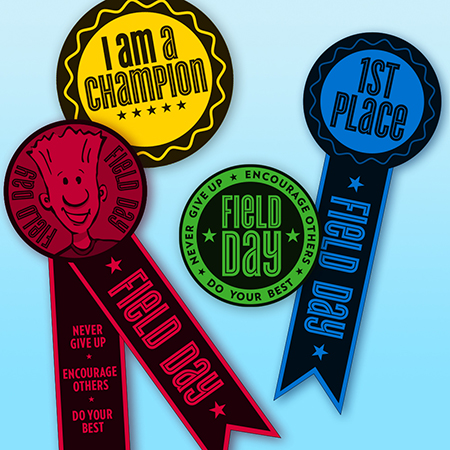 Field Day Ribbons and Badges