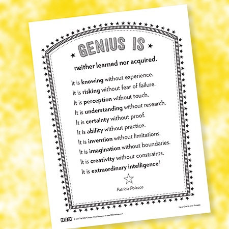 Genius Is... Printable