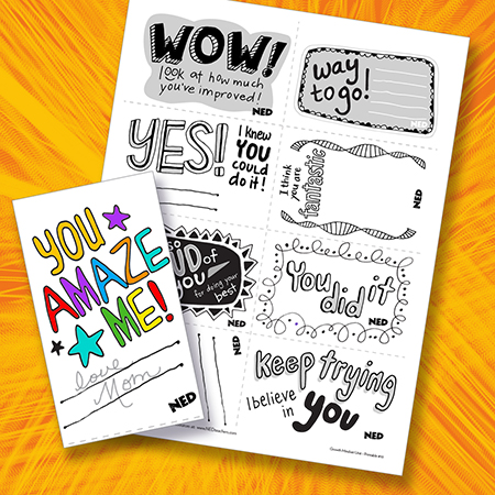 Encouragement Notes B-W