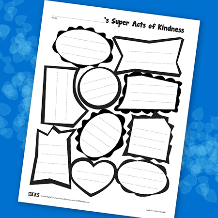 Super Acts of Kindness Printable