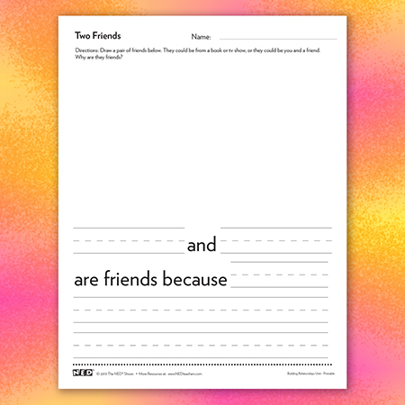 Two Friends Printable