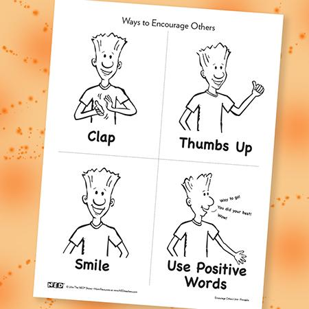 Ways to Encourage Others Printable