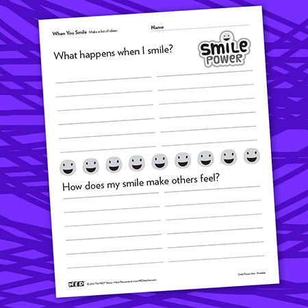 What Happens When I Smile Printable