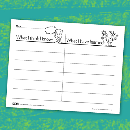 What I Know, What I Learned Printable