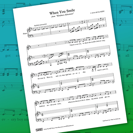 When You Smile Sheet Music Printable