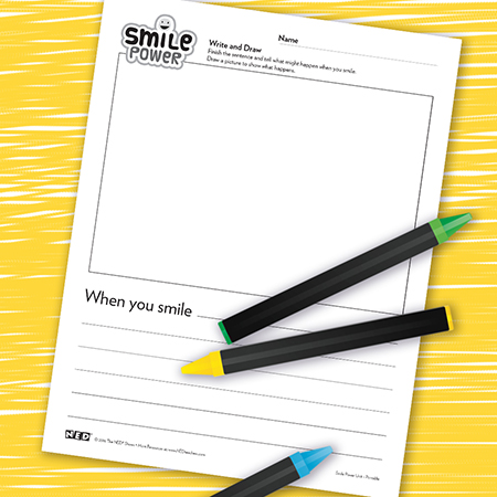 When You Smile, Write and Draw Printable