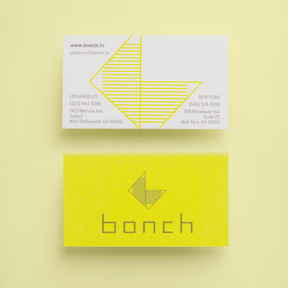 Bonch branding Two spot color business card