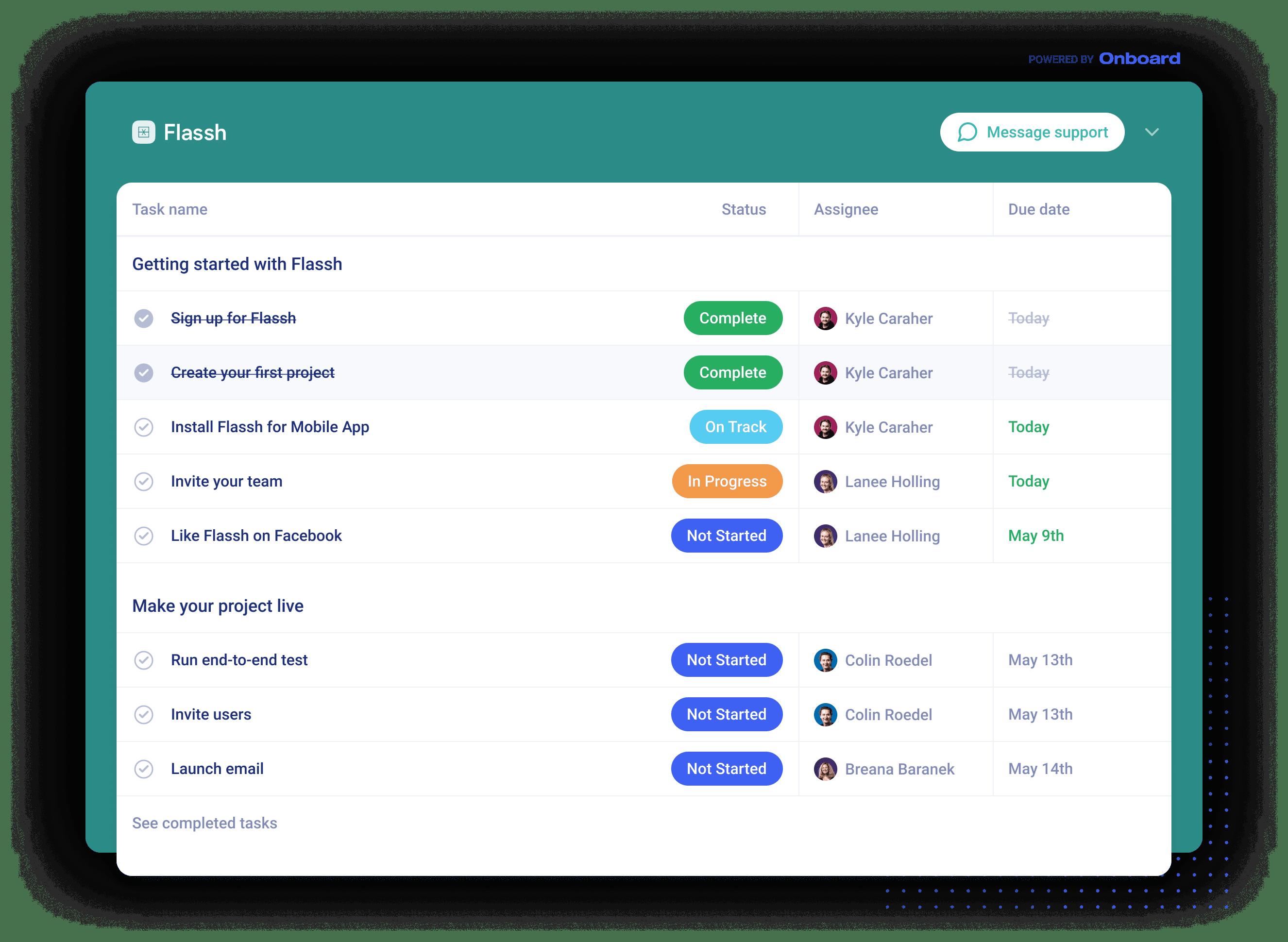 Onboard.io Screenshot
