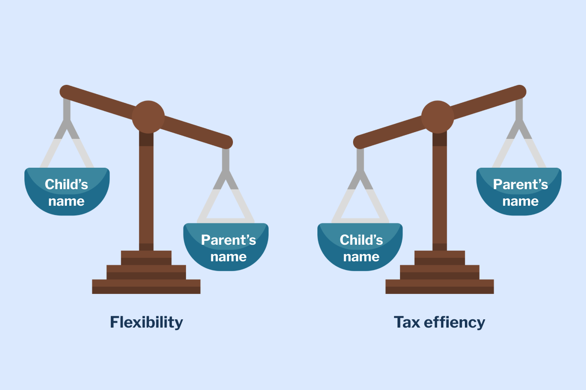 Flexibility vs. tax efficiency. What to consider when saving for your child.