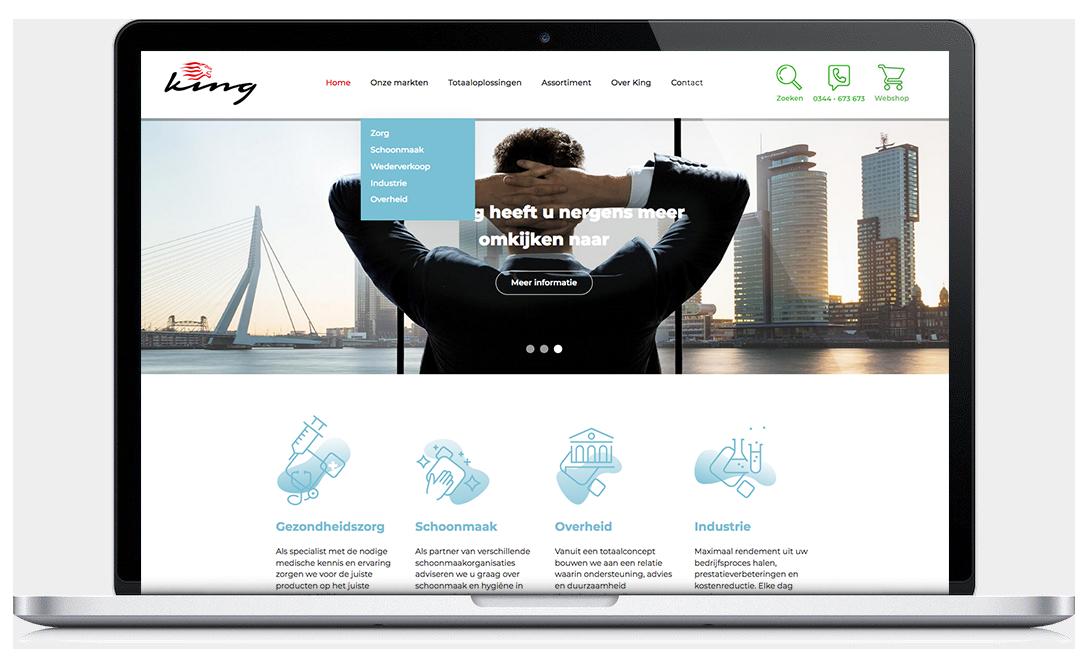 King website design