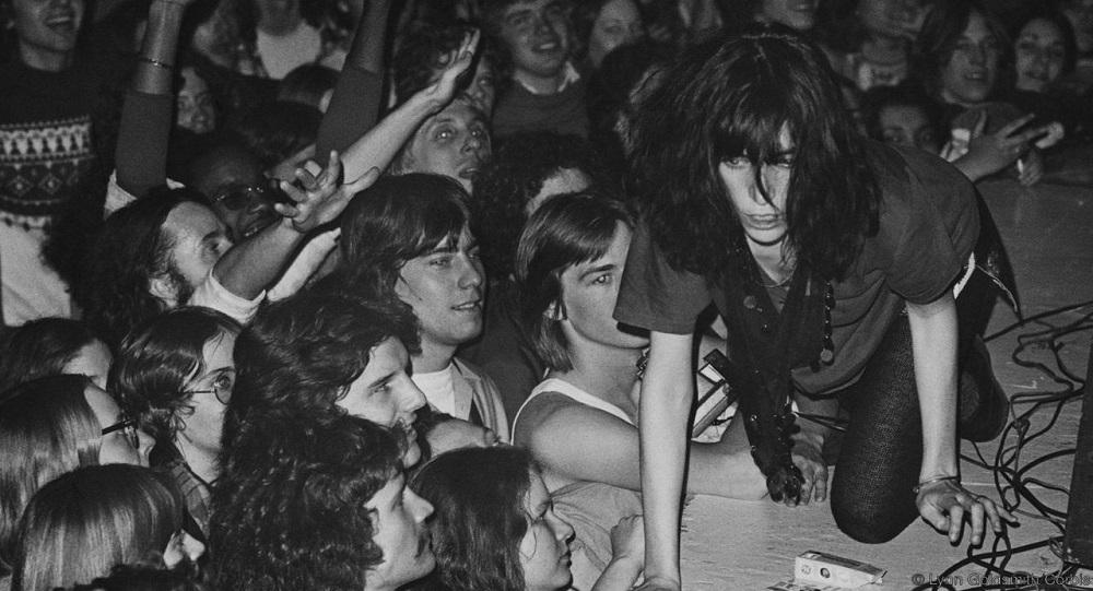 Patti Smith Crawling on Stage