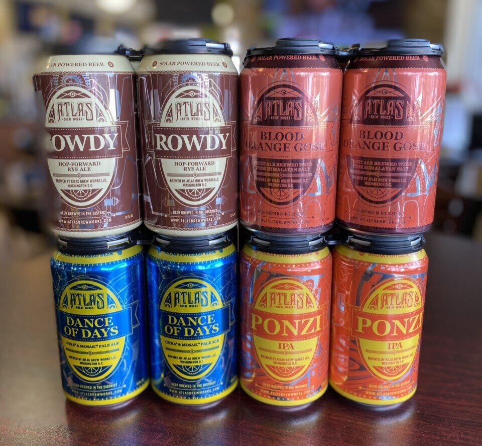 Four different beers from Atlas Brew Works