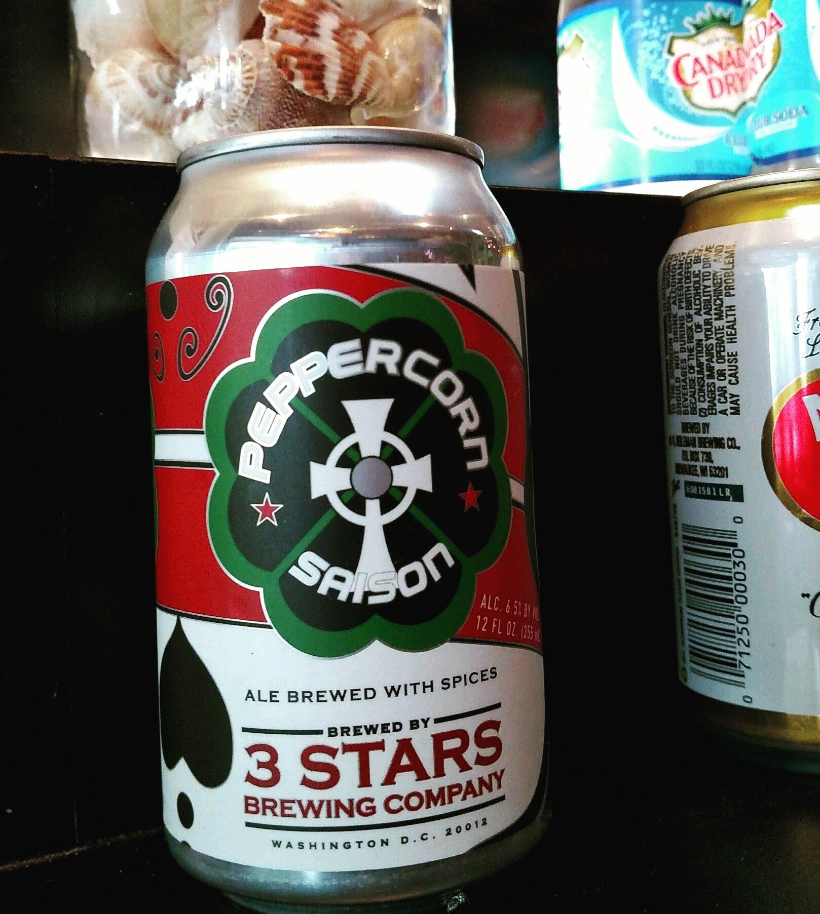 "3 Stars Brewing Company's ""Peppercorn Saison"" beer"