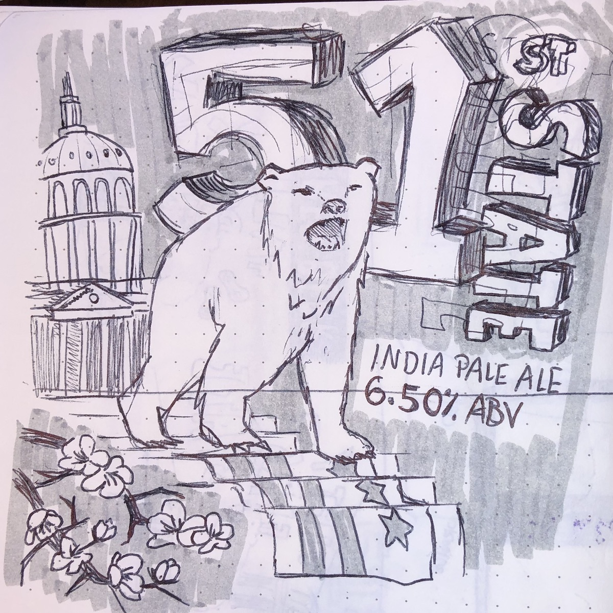 """A sketch of the """"habitats"""" concept for the fifty-first state beer"""