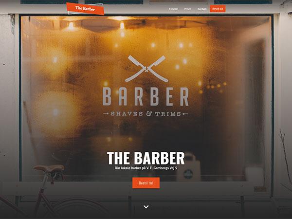 Eksempel på Barberhjemmeside med tidsbestilling