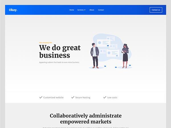 Eksempel på business hjemmeside